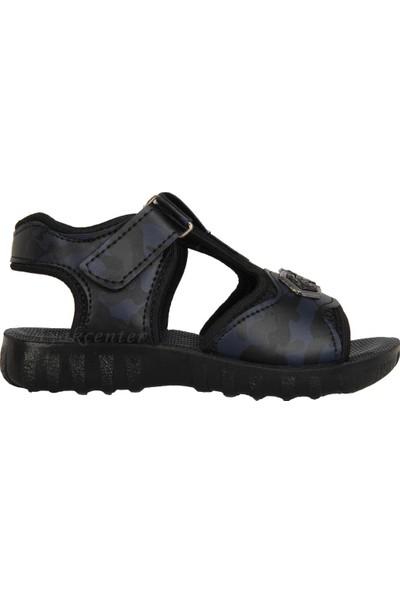 Akım 11846 Lacivert Cırtlı Yazlık Erkek Çocuk Sandalet Ayakkabı