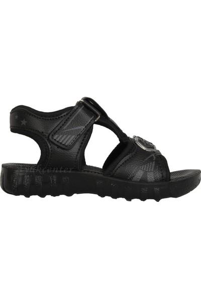 Akım 11846 Siyah Cırtlı Yazlık Erkek Çocuk Sandalet Ayakkabı