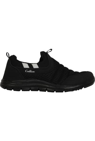 Callion 1453 Siyah Bağsız Yazlık Fileli Erkek Çocuk Spor Ayakkabı