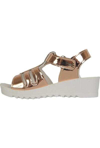 Miss 5001 Pudra Cırtlı Yazlık Günlük Kız Çocuk Sandalet Ayakkabı