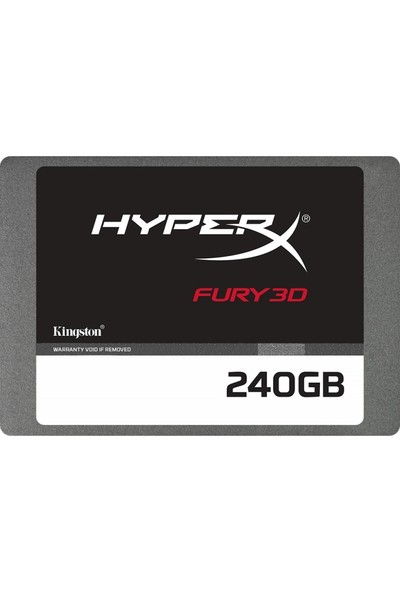 "Kingston HyprX Fury 3D 240GB 500-500MB/s 2.5"" Sata 3.0 SSD KC-S44240-6F"