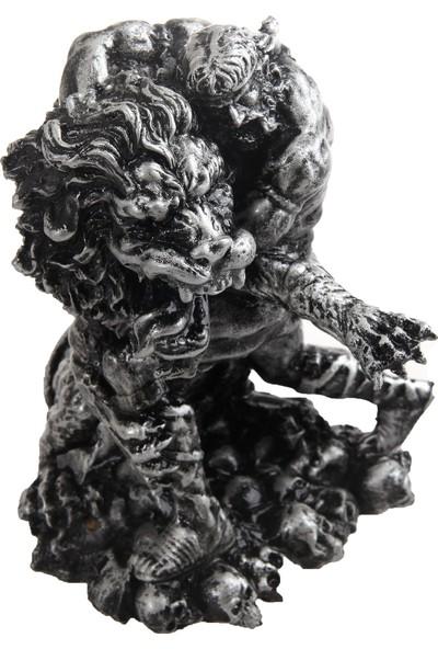 Otantik Polyester Aslan İle Güreşen Romalı Heykeli