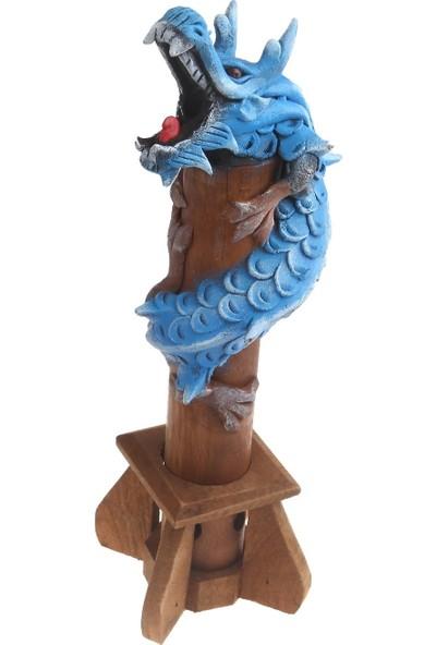 Otantik Tik Ağacı Tütsülük Ejderha Modeli