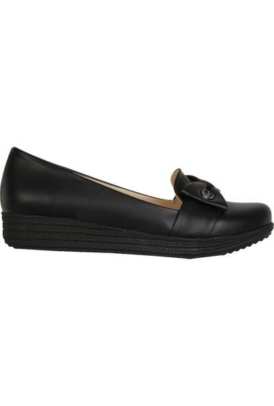 Elenora Siyah Mat 3Cm Topuk Günlük Kadın Ayakkabı