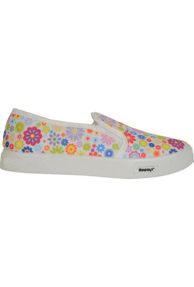 Dayked 3000 Karışık Renkli Keten Yazlık Kız Çocuk Babet Ayakkabı