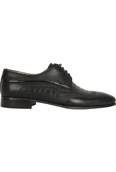 Nevzat Özel 6841 Siyah %100 Deri Günlük Erkek Klasik Ayakkabı