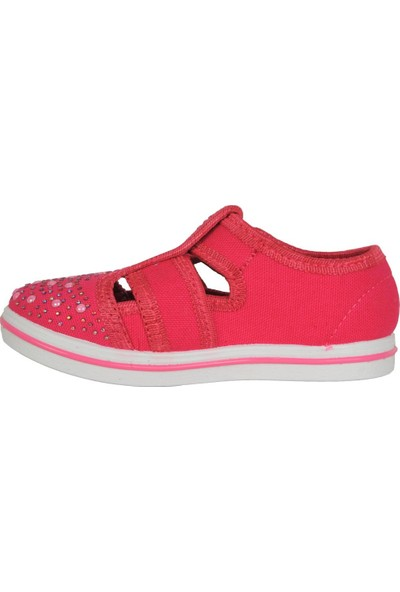 Walker Kids Pembe Cırtlı Günlük Kız Çocuk Sandalet Ayakkabı