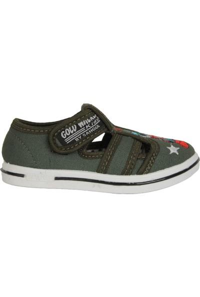 Walker Kids Haki Cırtlı Günlük Erkek Çocuk Sandalet Ayakkabı