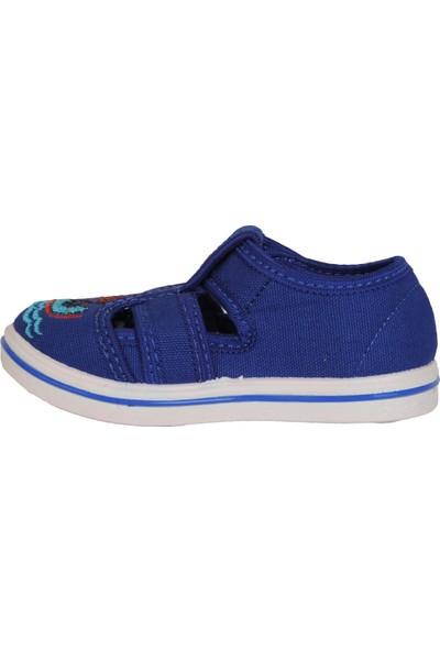 Walker Kids Mavi Cırtlı Günlük Erkek Çocuk Sandalet Ayakkabı