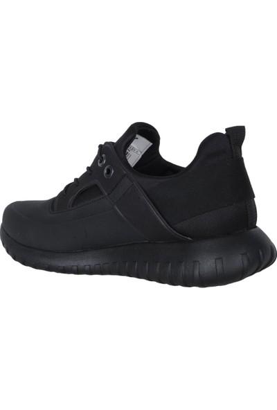 N Step Pure Sade Siyah Bağsız Kışlık Erkek Spor Ayakkabı