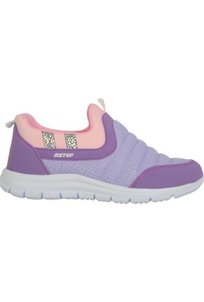 N Step Punch Mor Bağsız Yazlık Rahat Kız Çocuk Spor Ayakkabı