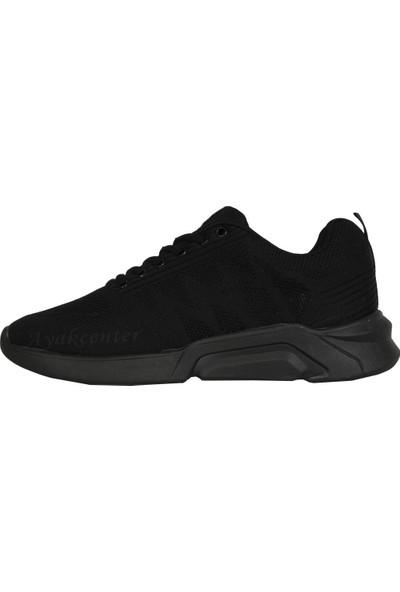 N Step Troy Siyah Yazlık Günlük Yürüyüş Koşu Erkek Spor Ayakkabı