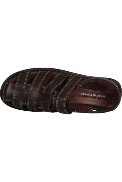 Imperial D-2025 Hakiki Deri Cırtlı Yazlık Erkek Sandalet Ayakkabı