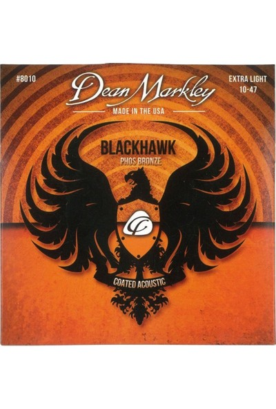 Dean Markley Blackhawk 8010 Kaplamalı Extra Light Akustik Gitar Takım Tel