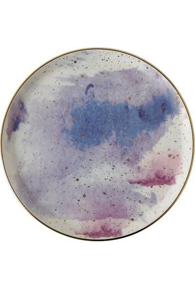 Porland Cosmos Desen7 Düz Tabak 20 cm