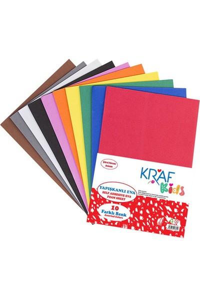 Kraf Kids Yapışkanlı Eva 50 x 70 cm Karışık 10 Renk