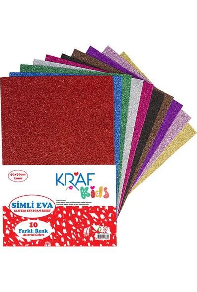 Kraf Kids Simli Eva 50 x 70 cm Karışık 10 Renk