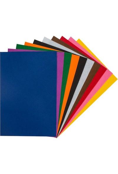Kraf Kids Yapışkanlı Keçe 20 x 30 cm Karışık 10 Renk