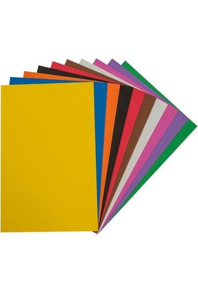 Kraf Kids Yapışkanlı Eva 20 x 30 cm Karışık 10 Renk