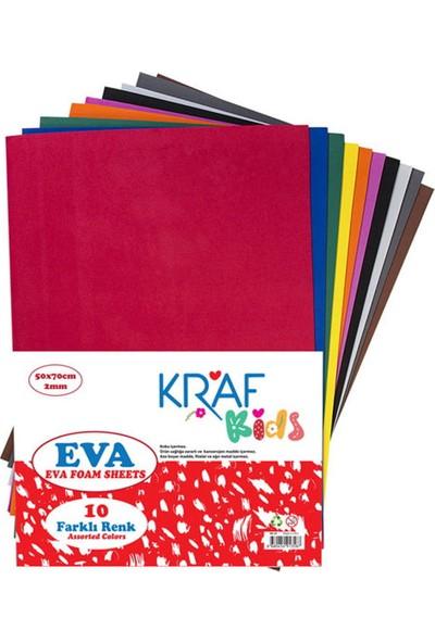 Kraf Kids Eva 50 x 70 cm Karışık 10 Renk