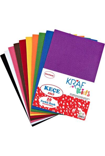 Kraf Kids Keçe 50 x 70 cm Karışık 10 Renk