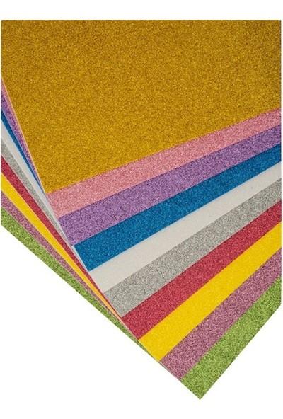 Kraf Kids Simli Eva 20 x 30 cm Karışık 10 Renk