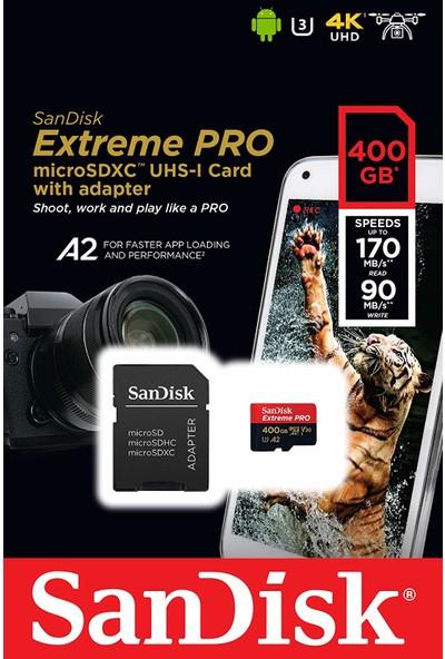 SanDisk Extreme Pro 400GB Micro SDXC UHS-I U3 A2 V30 Hafıza Kartı SDSQXCZ-400G-GN6MA