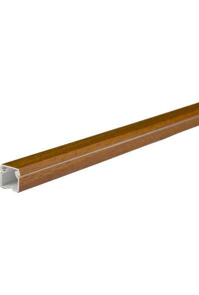 A Plus Elektrik 12x12 mm Lamine Kaplamalı Ceviz 4x1m=4m Bantsız Kablo Kanalı