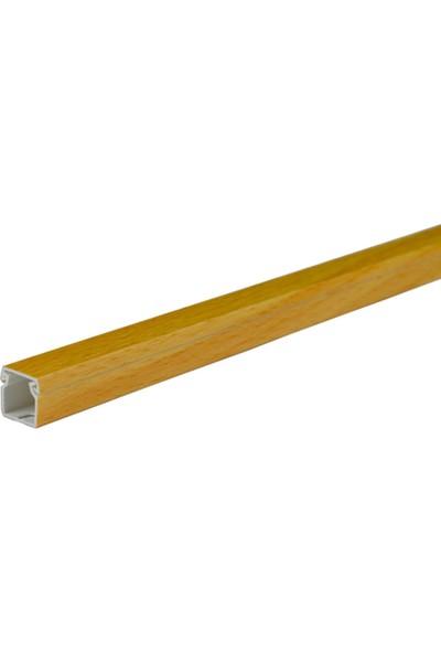 A Plus Elektrik 12x12 mm Güçlü Yapışkan Bantlı Lamine Kaplamalı Kayın 6x1m=6m Kablo Kanalı
