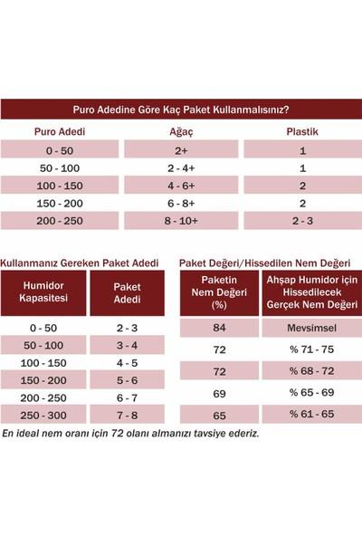 Boveda 72 60G Humidor Puro Kutusu Nemlendirici 60Lı Eco Paket