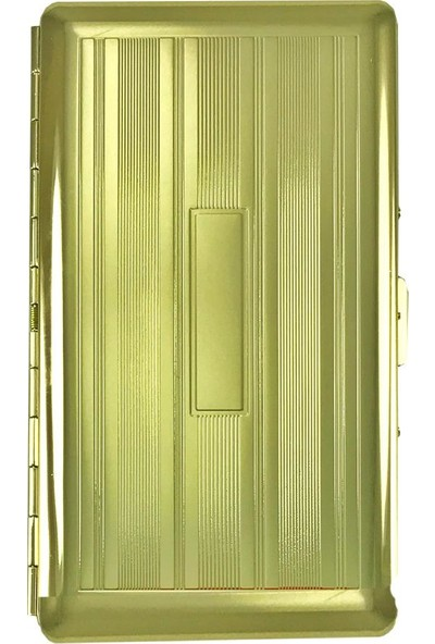 Vom Hofe Wf Premium Aynalı Uzun Slim Sigara Tabakası Gold 120Mm
