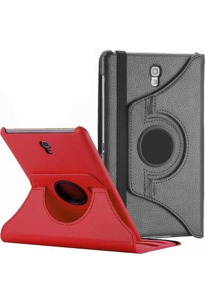 "Redpoloshop Samsung Galaxy Tab S4 10.5"" T830 T835 Kılıf 360 Dönerli Standlı Siyah + Tempered Cam Ekran Koruyucu"