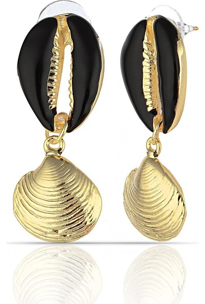 Herisson Deniz Kabuklu Altın Küpe DPK5133