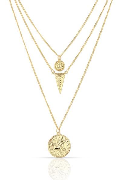 Herisson Altın 3lü Kolye DKL2100