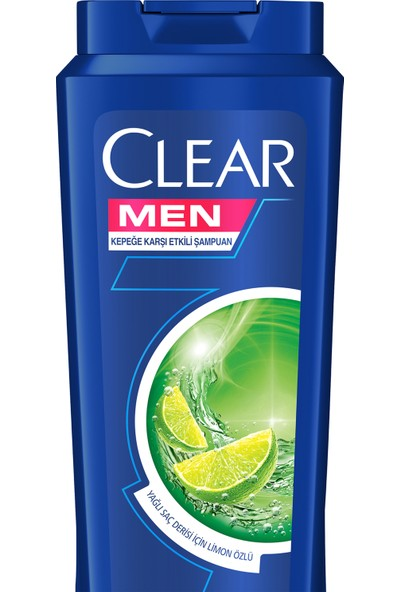 Clear Men Şampuan Yağlı Saç Derisi için Maksimum Ferahlık 500 ML
