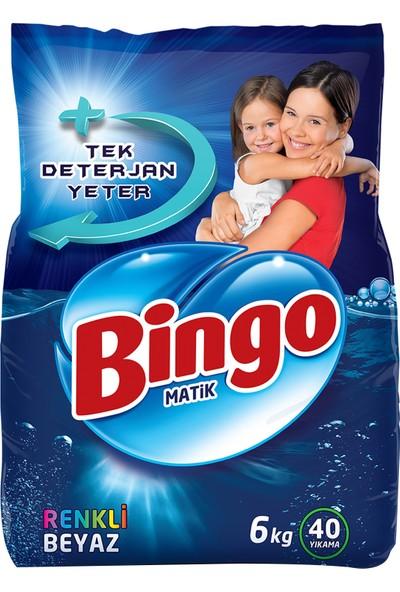 Bingo Renkli&Beyaz Toz Çamaşır Deterjanı 6 Kg