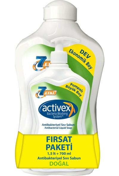 Activex Antibakteriyel Sıvı Sabun Doğal 1.5 lt & 700 ml Fırsat Paketi