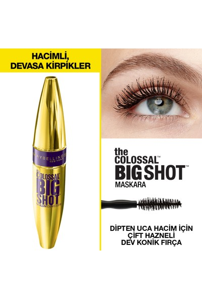 Maybelline New York The Colossal Big Shot Siyah Maskara