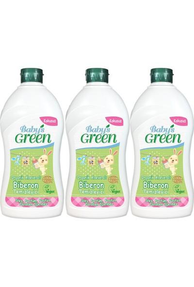 Baby's Green Organik Aloe veralı Bebek Biberon Temizleyici - Kokusuz3'lü Set