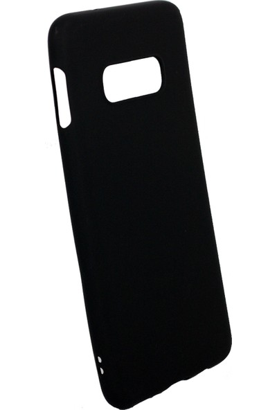 Case 4U Samsung Galaxy S10e Kılıf Mat Silikon Arka Kapak - Premier Siyah