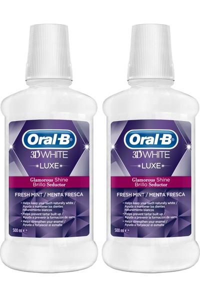 Oral B Ağız Çalkalama Suyu 3 Boyutlu Beyazlık Luxe 2 x 500 ml