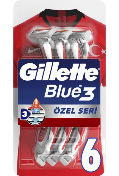 Gillette Blue3 Pride 6'lı Kullan At Tıraş Bıçağ