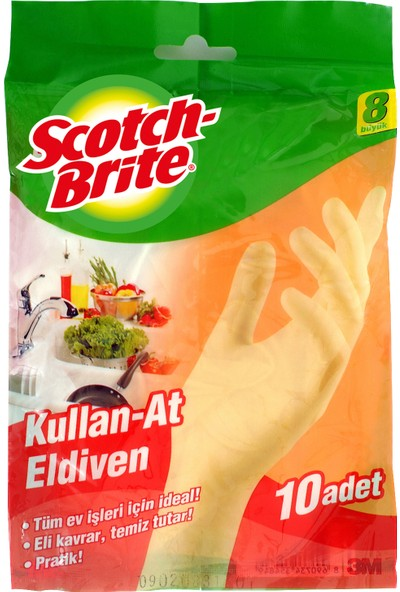Scotch Brite Kullan At Eldiven No:8
