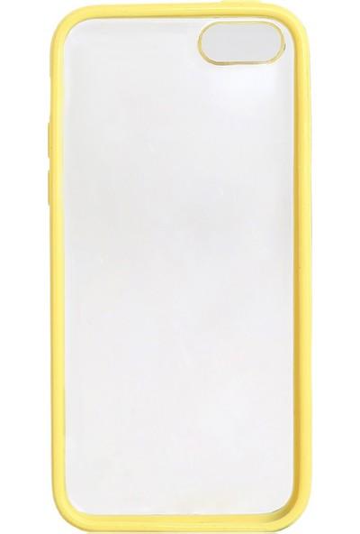 Case 4U iPhone 5c Şeffaf Sarı Tpu + Kristal Kapak*