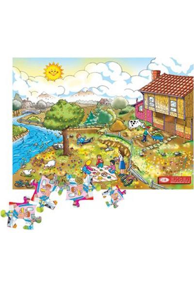 Eksen İlkbahar Mevsimi Ahşap Puzzle / 35 Parça