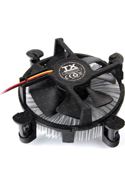 TX Intel 1155/1156/1150/1151 Uyumlu İşlemci Soğutucu (TXCCSW115)