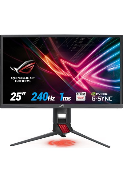 "Asus XG258Q 24.5"" 1ms 240hz (HDMI+Display) FreeSync/GSync Full HD Oyuncu Monitör"