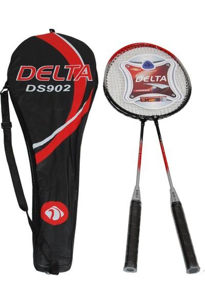 Delta 2 Adet Badminton Raketi Çiftli Badmington Çantalı Set