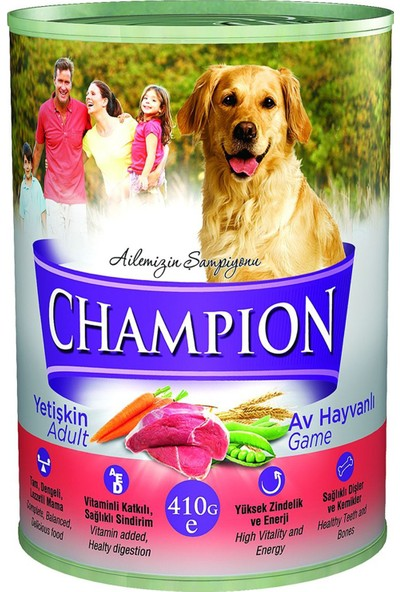 Champion Av Hayvanlı Yaş Köpek Konserve Maması 410 gr