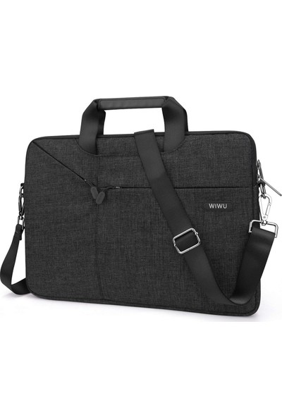 """Wiwu MacBook Pro Air Retina 13.3"""" Su Geçirmez Omuz Askılı Notebook Çantası 1270 Siyah"""